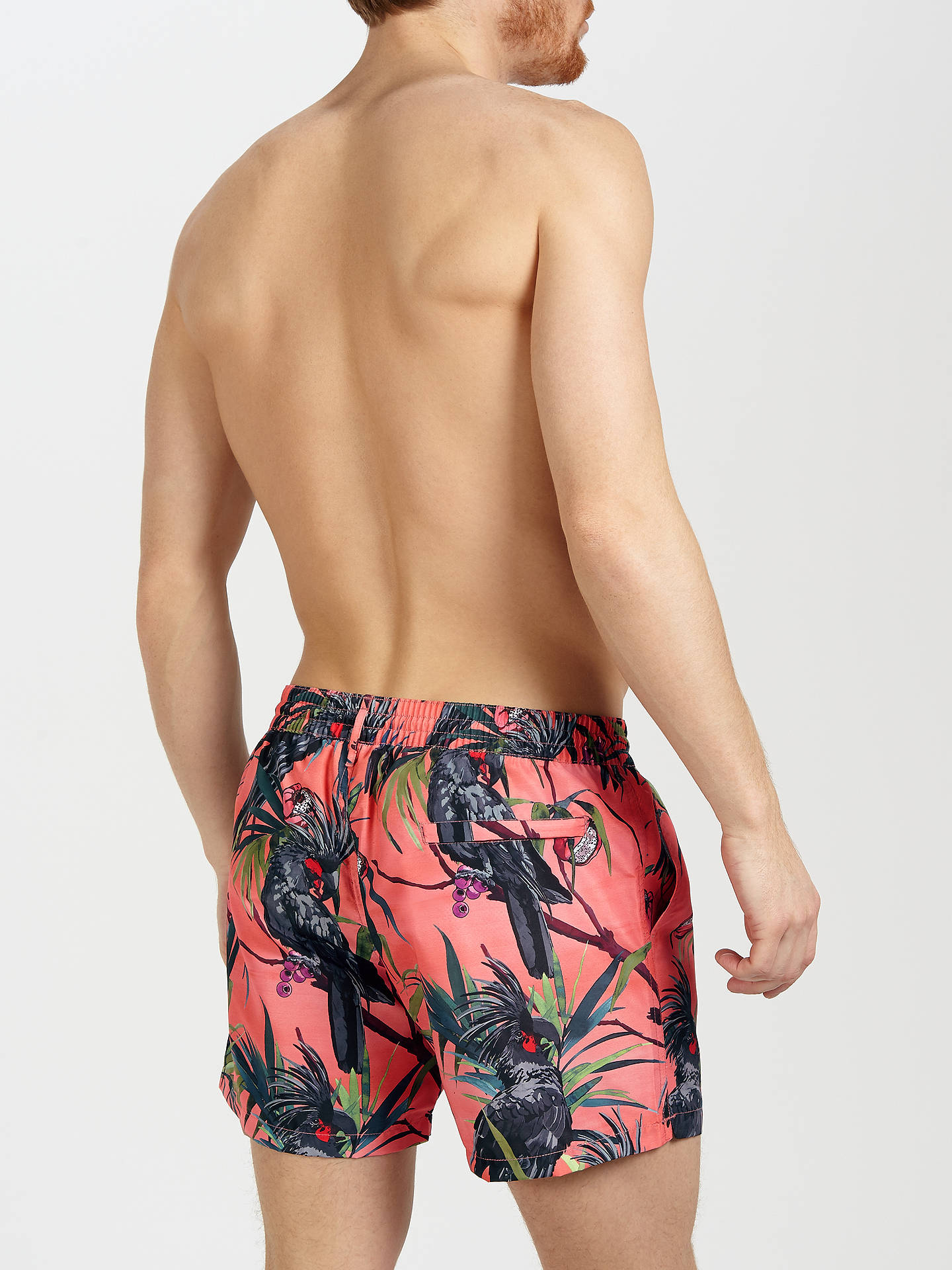 fd17a4f396548 ... Buy Paul Smith Cockatoo Print Swim Shorts, Pink, S Online at  johnlewis.com ...