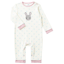 Buy John Lewis Baby Crotchet Bunny Rabbit Romper, Cream Online at johnlewis.com