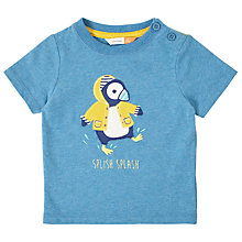 Buy John Lewis Baby Puffin Short Sleeve T-Shirt, Blue Online at johnlewis.com
