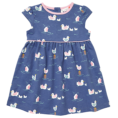 Product photo of John lewis baby bird print dress navy