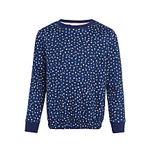 Buy John Lewis Girls' Ditsy Sweatshirt, Navy Online at johnlewis.com