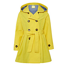 Buy John Lewis Girls' Double Breasted Raincoat, Yellow Online at johnlewis.com