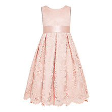 Buy John Lewis Girls' Corded Lace Bridesmaid Dress, Pink Online at johnlewis.com