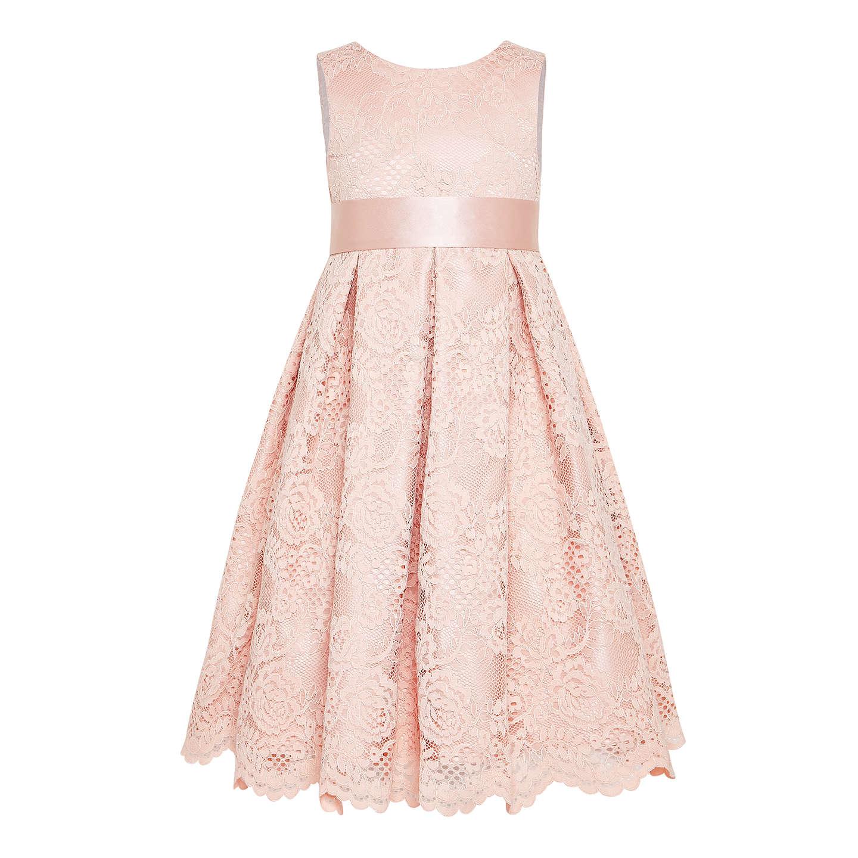 John lewis girls 39 corded lace bridesmaid dress pink at for John lewis wedding dresses