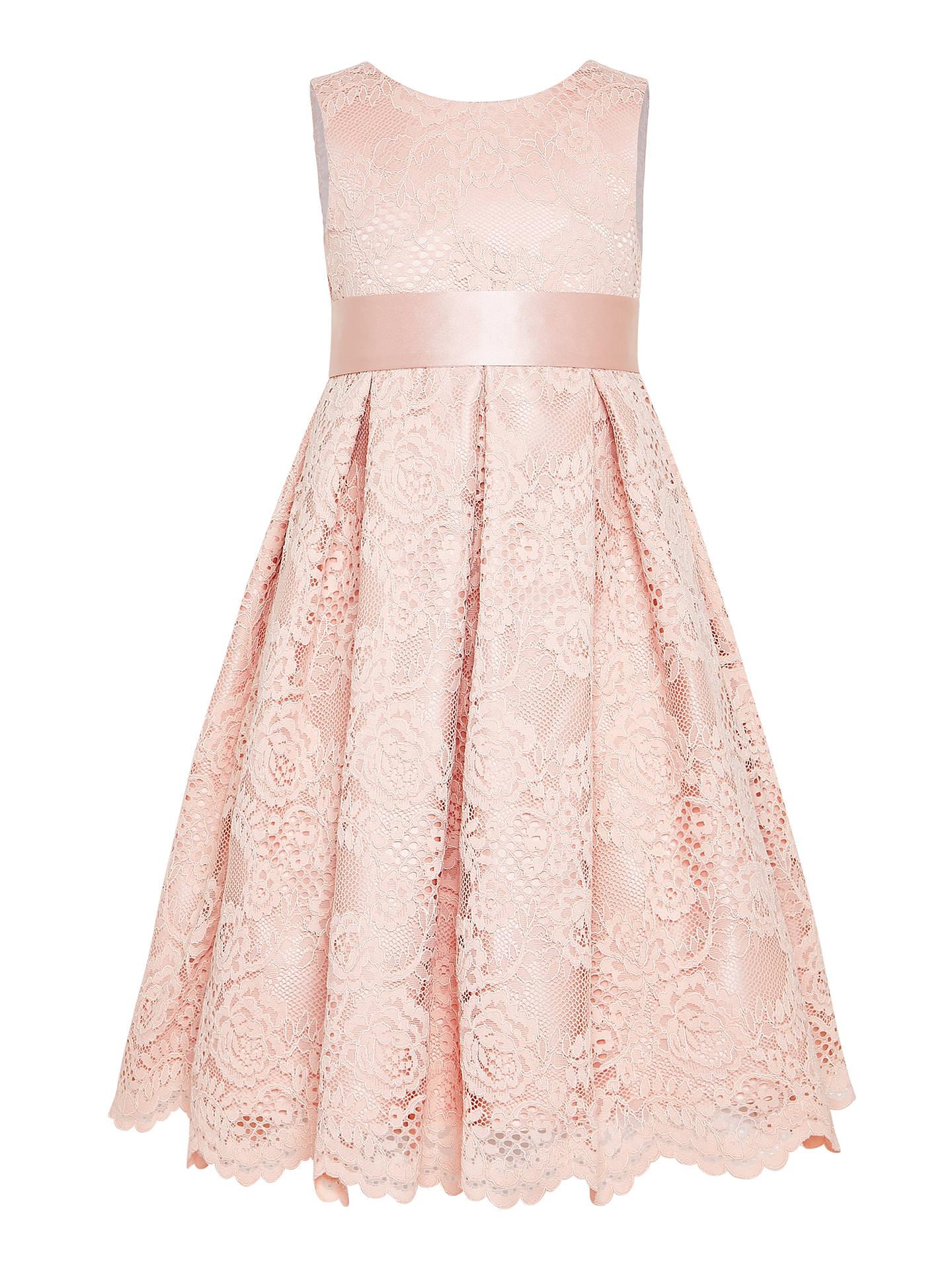 65bd2144e413 Buy John Lewis   Partners Girls  Corded Lace Bridesmaid Dress