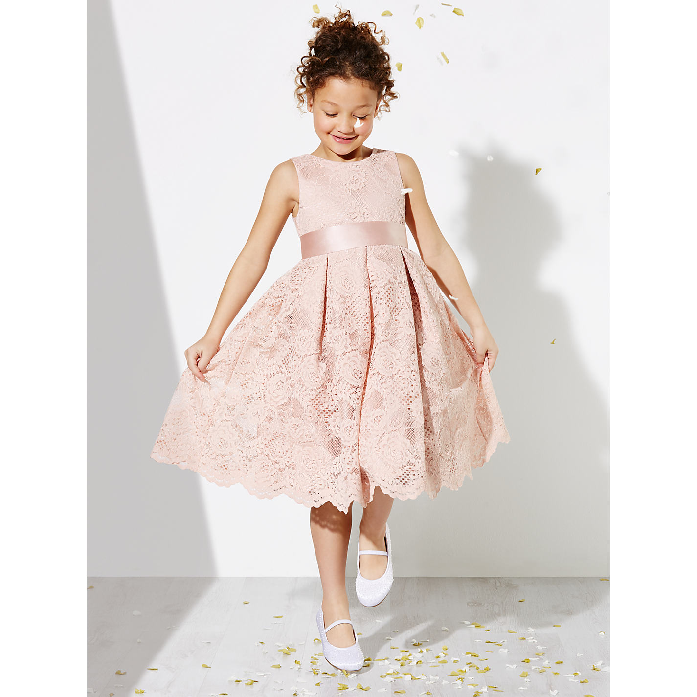 Buy john lewis girls corded lace bridesmaid dress pink john lewis buy john lewis girls corded lace bridesmaid dress pink online at johnlewis ombrellifo Gallery