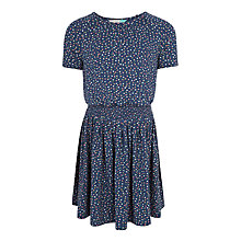 Buy John Lewis Girls' Ditsy Print Dress, Insignia Blue Online at johnlewis.com