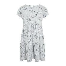 Buy John Lewis Girls' Cat Dress, Grey Online at johnlewis.com