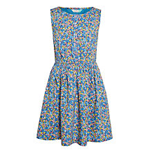 Buy John Lewis Girls' Floral Print Dress, Blue Online at johnlewis.com