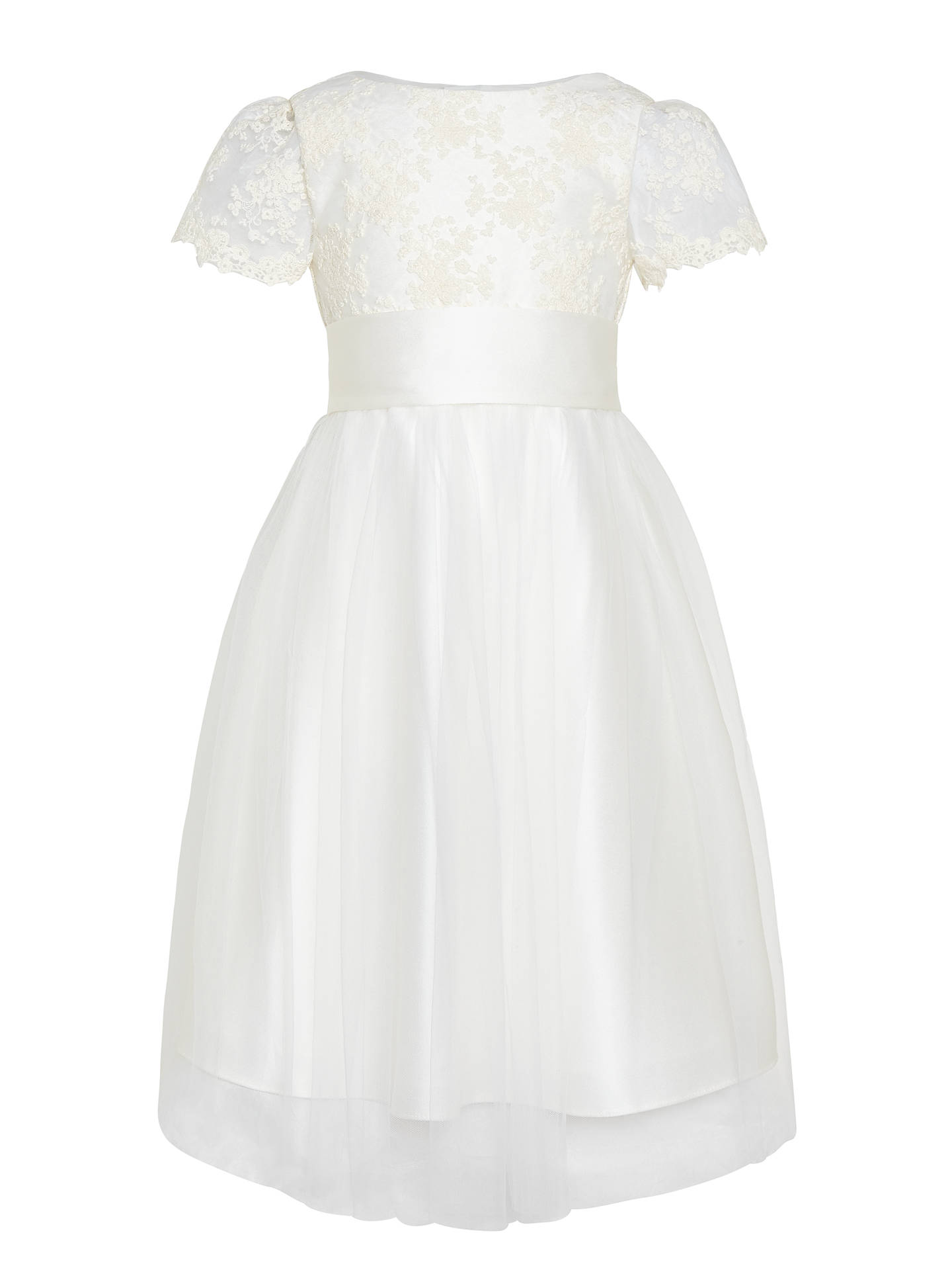 Buy John Lewis Girls' Floral Lace Bridesmaid Dress, Ivory, 2 years Online at johnlewis.com