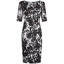 Buy Fenn Wright Manson Petite Athena Animal Print Dress, Black/Ivory Online at johnlewis.com