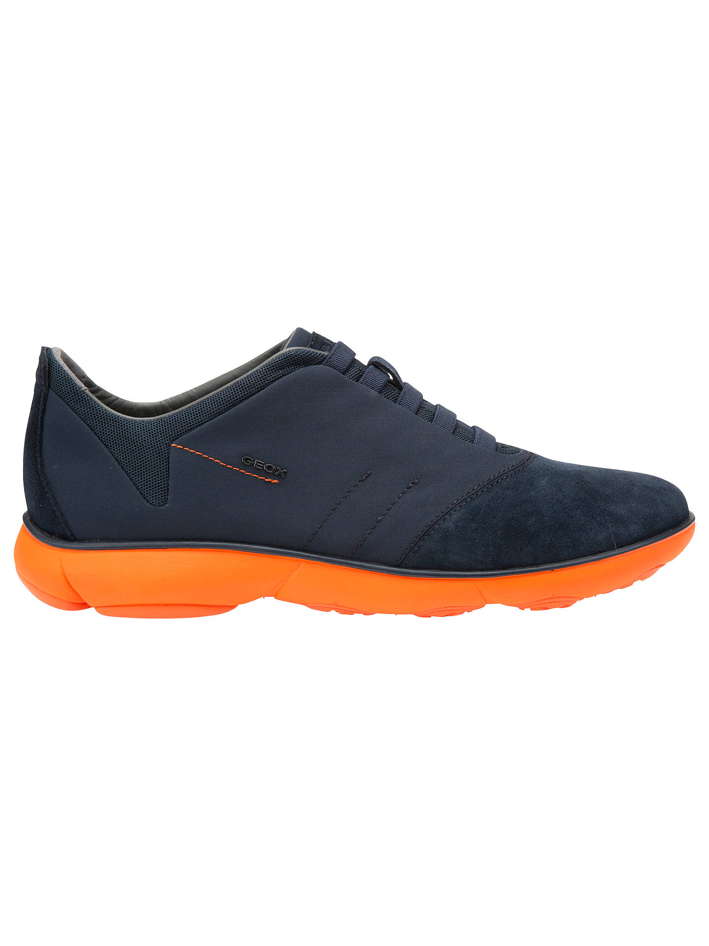 e056e29735 ... Men's Shoes, Boots & Trainers. Previous Image Next Image. Buy Geox  Nebula Trainers, Navy/Orange, 7 Online at johnlewis.com ...