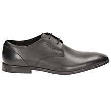 Buy Clarks Bampton Derby Shoes, Black Online at johnlewis.com