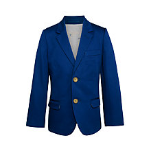Buy John Lewis Heirloom Collection Boys' Cotton Sateen Suit Jacket, Blue Online at johnlewis.com