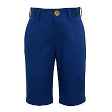 Buy John Lewis Heirloom Collection Boys' Cotton Sateen Shorts, Blue Online at johnlewis.com
