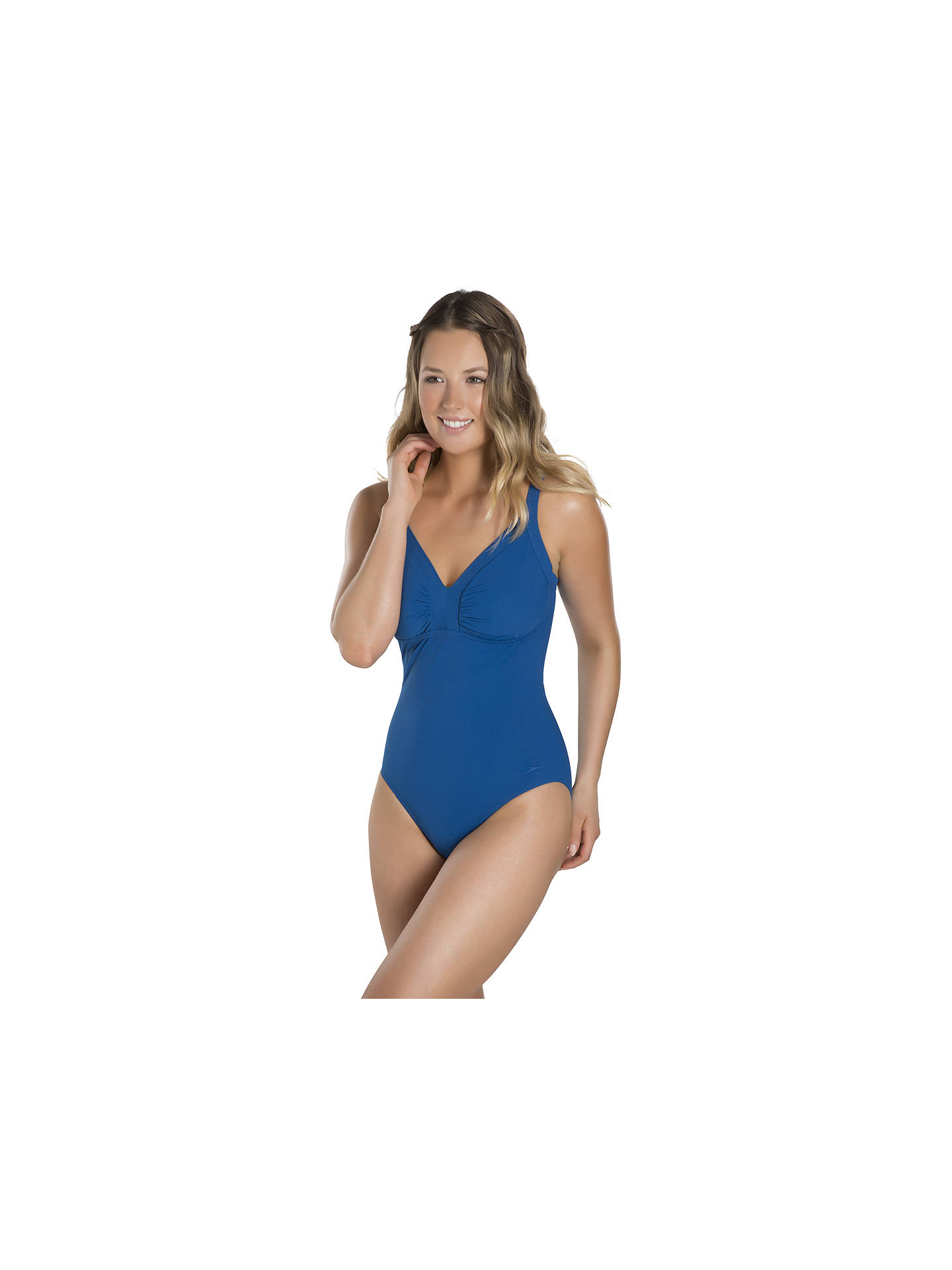 f2ed59bcee ... Buy Speedo Sculpture Watergem Swimsuit, Navy, 32 Online at  johnlewis.com ...