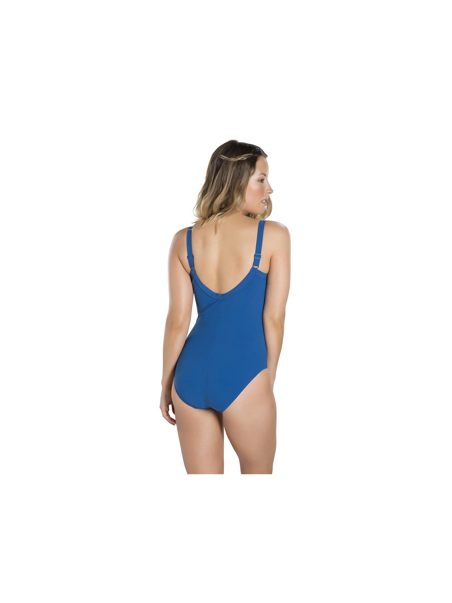 274b04d76d057 ... Buy Speedo Sculpture Watergem Swimsuit, Navy, 32 Online at johnlewis.com
