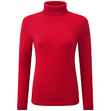 Buy Pure Collection Tiffany Roll Neck Jumper, Pillarbox Red Online at johnlewis.com