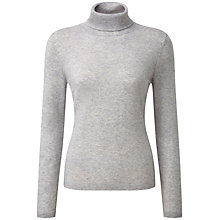 Buy Pure Collection Riley Roll Neck Jumper, Iced Grey Online at johnlewis.com