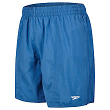 "Buy Speedo Solid Leisure 16"" Watershorts, Blue Online at johnlewis.com"