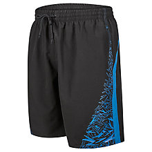 "Buy Speedo Boom Yoke Splice 18"" Watershorts, Black Online at johnlewis.com"
