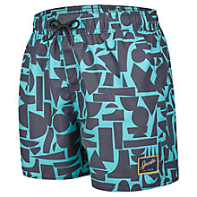 "Buy Speedo Vintage Geo Print 14"" Watershorts, Green Online at johnlewis.com"