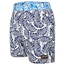 "Buy Speedo Vintage Printed 16"" Watershorts, Blue Online at johnlewis.com"