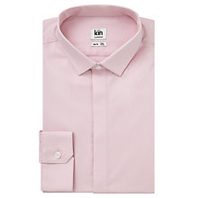 Buy Kin by John Lewis Cotton Poplin Slim Fit Shirt, Pink Online at johnlewis.com