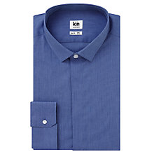 Buy Kin by John Lewis Chambray Slim Fit Shirt, Blue Online at johnlewis.com