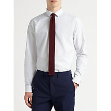 Buy Kin by John Lewis Horizontal Rib Slim Fit Shirt, White Online at johnlewis.com