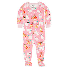 Buy Hatley Baby Cool Cats Sleepsuit, Pink Online at johnlewis.com