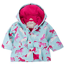 Buy Hatley Baby Polka Dot and Ponies Waterproof Rain Coat, Blue/Pink Online at johnlewis.com