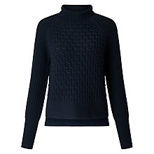 Buy Somerset by Alice Temperley Chunky Zig Zag Knit Jumper, Navy Online at johnlewis.com