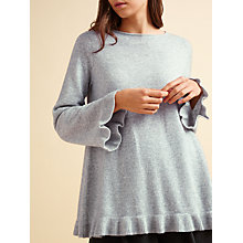 Buy Modern Rarity Lofty Frill Trim Jumper, Grey Online at johnlewis.com