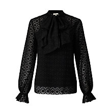 Buy Somerset by Alice Temperley Chevron Ruffle Front Blouse Online at johnlewis.com