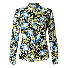 Buy Somerset by Alice Temperley Floral Animal Print Blouse, Black Online at johnlewis.com