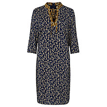 Buy Sugarhill Boutique Ditsy Tunic Dress, Blue/Mustard Online at johnlewis.com