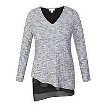 Buy Celuu Asymmetric Hem Top, Grey Online at johnlewis.com