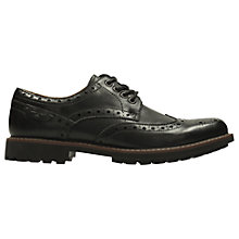 Buy Clarks Montacute Wing Leather Brogue Shoes, Black Online at johnlewis.com