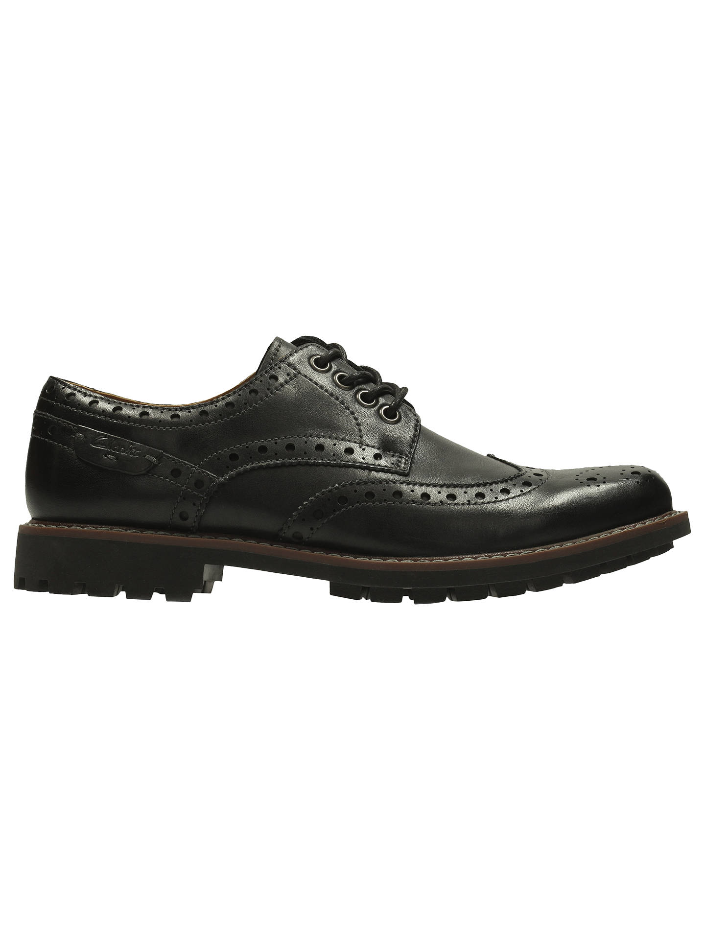 75cebde7d9134 BuyClarks Montacute Wing Leather Brogue Shoes, Black, 7 Online at  johnlewis.com ...
