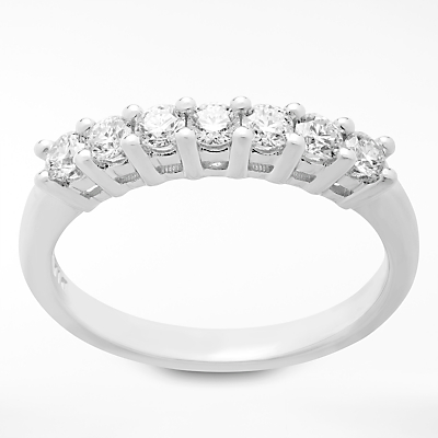 Image of Mogul 18ct White Gold Round Brilliant Diamond Eternity Ring, 0.5ct