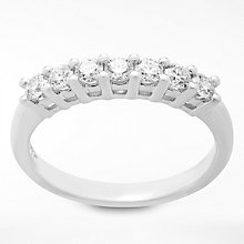 Buy Diamond Collection 18ct White Gold Round Brilliant Diamond Eternity Ring, 0.5ct Online at johnlewis.com