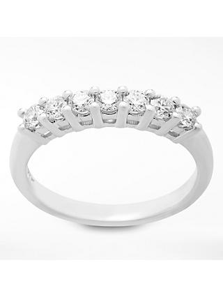 Mogul 18ct White Gold Round Brilliant Diamond Eternity Ring, 0.5ct