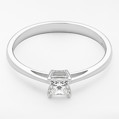 Mogul 18ct White Gold Princess Cut Diamond Engagement Ring, 0.33ct