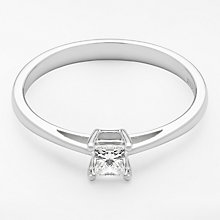 Buy Diamond Collection 18ct White Gold Princess Cut Diamond Engagement Ring, 0.33ct Online at johnlewis.com