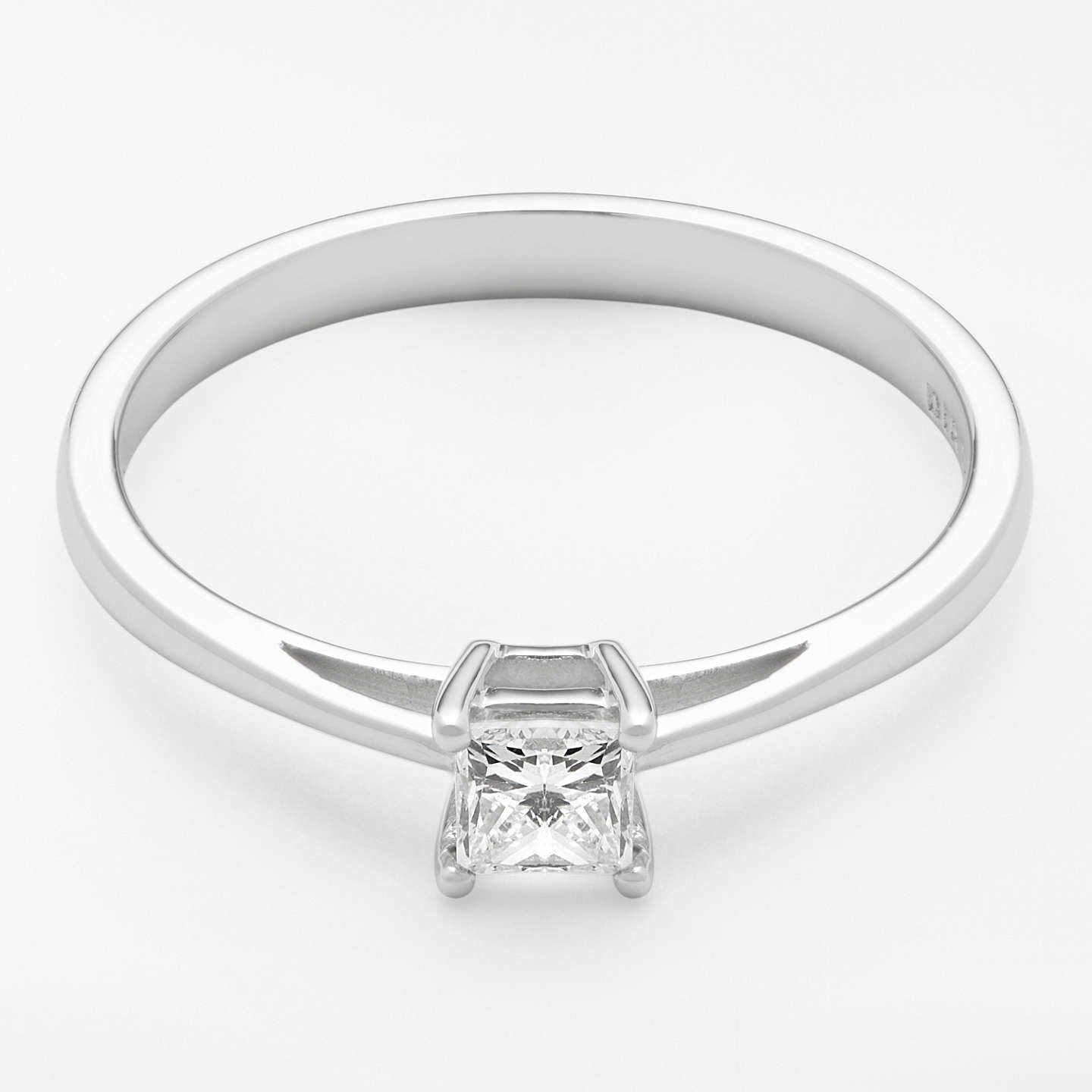cut diamond engagement halo a stunning princess shank pin rings split jewellery ring
