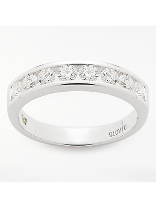 Mogul 18ct White Gold Round Brilliant Channel Set Diamond Eternity Ring, 0.75ct