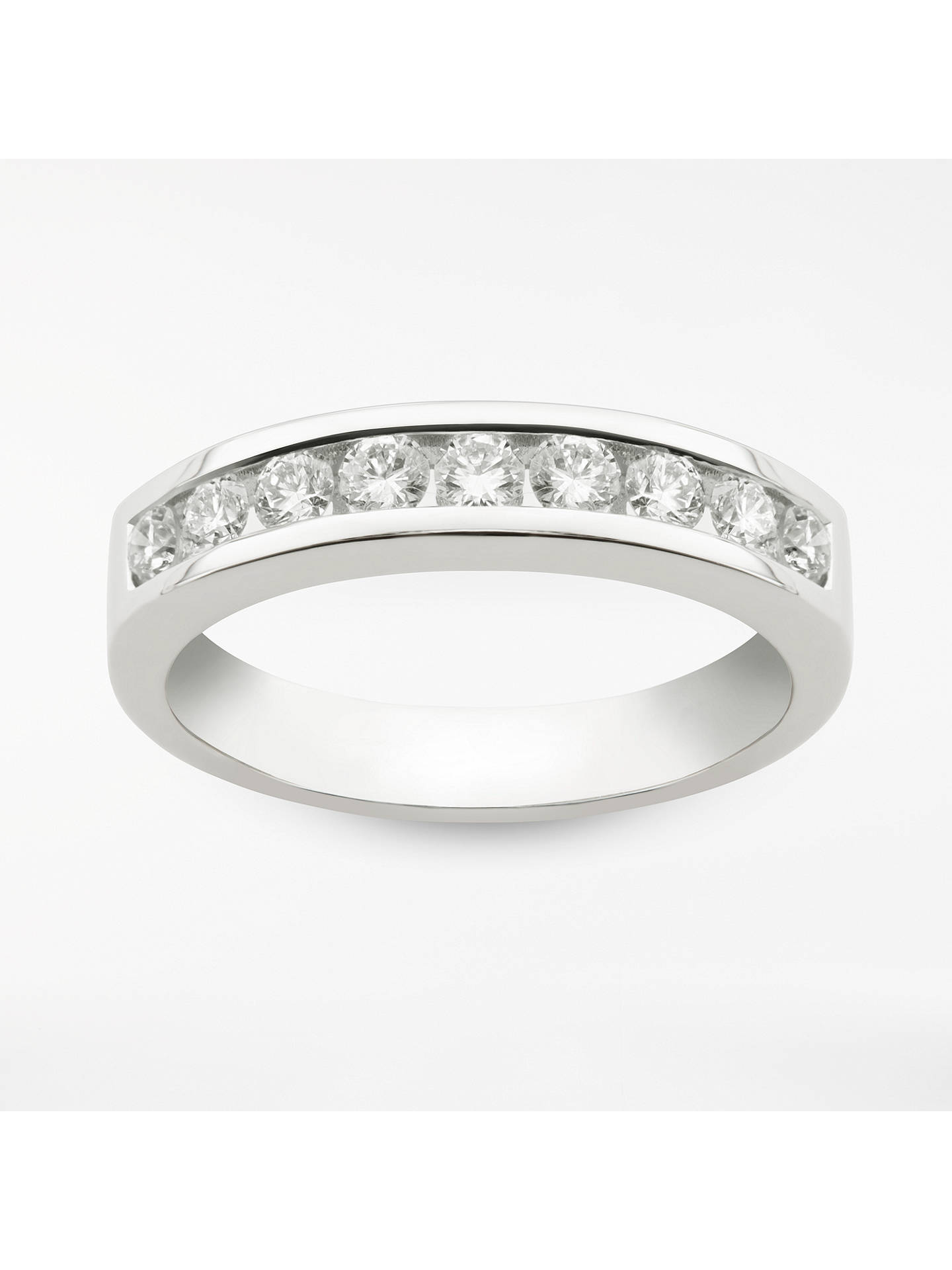 0b4ac667981aa7 Buy Mogul 18ct White Gold Round Brilliant Channel Set Diamond Eternity Ring,  0.5ct, ...