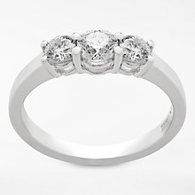 Buy Diamond Collection 18ct White Gold Round Brilliant Diamond Trilogy Engagement Ring, 0.75ct Online at johnlewis.com