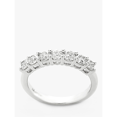 Mogul 18ct White Gold Round Brilliant Diamond Eternity Ring, 1ct